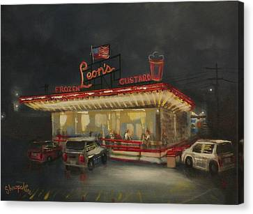 Leon's Frozen Custard Canvas Print by Tom Shropshire