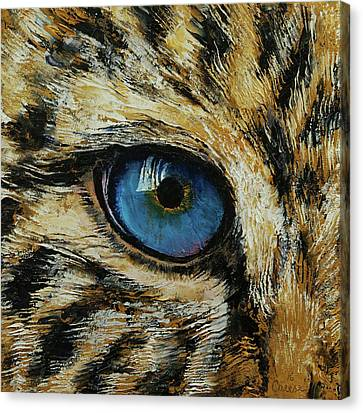 Leopard Eye Canvas Print