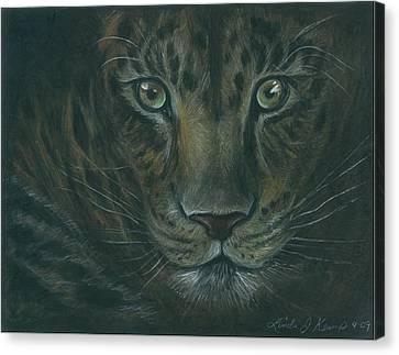 Leopard Canvas Print by Linda Nielsen