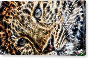 Animal Art Canvas Print - Leopard by Marvin Blaine