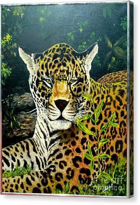 Leopard Canvas Print by Peter Kulik