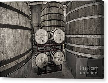 Leopold Bros Barrels Canvas Print by Keith Ducker