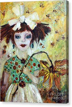 Canvas Print featuring the painting Leora #1 by Ginette Callaway