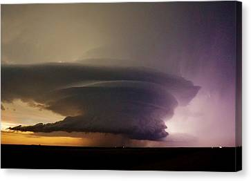 Canvas Print featuring the photograph Leoti, Ks Supercell by Ed Sweeney