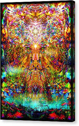 Canvas Print featuring the digital art Leototem by Jalai Lama