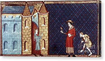 Leper House, C1220-1244 Canvas Print by Granger