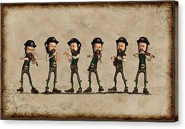 Leprechaun Musicians Canvas Print by John Junek