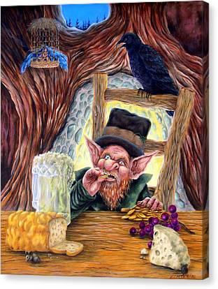 Leprechaun's Lair Canvas Print by Heather Calderon