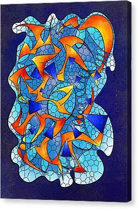 Leptoniussa V2 - Digital  Abstract Canvas Print by Cersatti