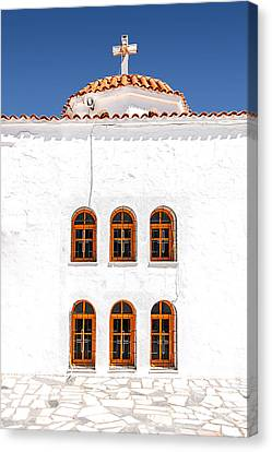 Lerapetra Church Facade Canvas Print by Antony McAulay