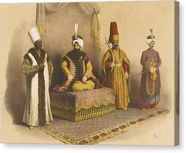 Les Anciens Costumes Canvas Print by Arif Pacha