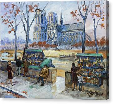 Canvas Print - Les Bouquinistes, Seine, Paris by Irek Szelag