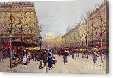 Les Champs Elysees, Paris Canvas Print
