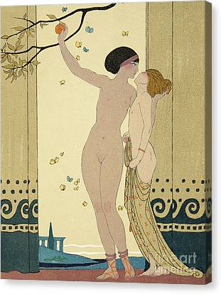 Advice Canvas Print - Les Conseils by Georges Barbier