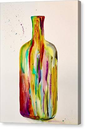 Les Couleurs De L' Eau De La Vie Canvas Print by Beverley Harper Tinsley