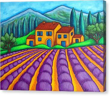 Les Couleurs De Provence Canvas Print by Lisa  Lorenz