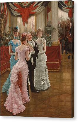 Les Demoiselles De Province Canvas Print by James Jacques Joseph Tissot