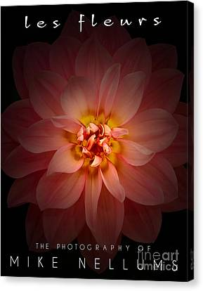Les Fleurs Coffee Table Book Cover Canvas Print
