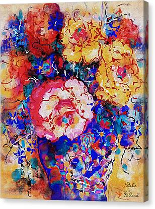 Les Fleurs Canvas Print by Natalie Holland