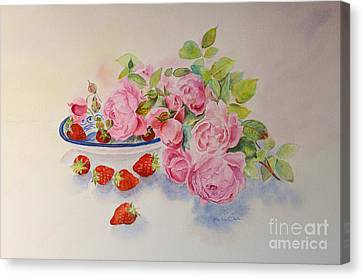Canvas Print featuring the painting Les Fruits De L'ete by Beatrice Cloake
