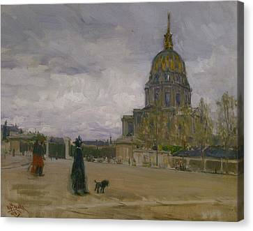 Les Invalides, Paris Canvas Print