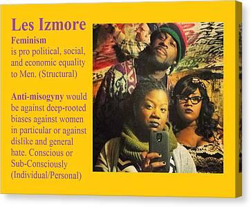 Les Izmore Feminism Canvas Print