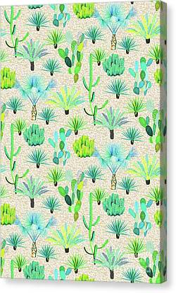 Les Jardins Majorelle  Cacti Canvas Print by Jacqueline Colley