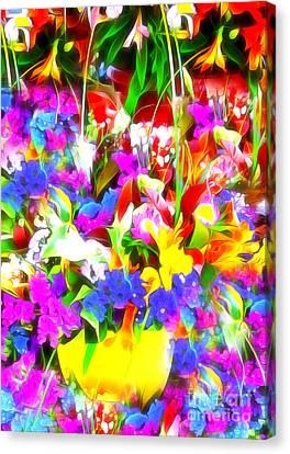 Les Jolies Fleurs Canvas Print by Jack Torcello
