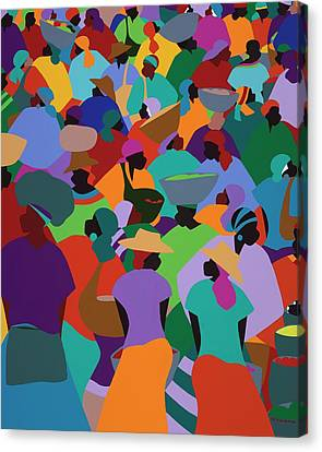 Les Palmes Market Haiti Canvas Print by Synthia SAINT JAMES