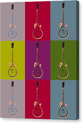Les Paul Colorful Poster Canvas Print by Dan Sproul