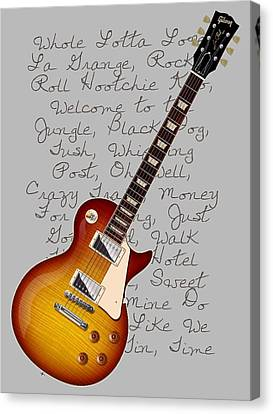 Les Paul Songs T-shirt Canvas Print