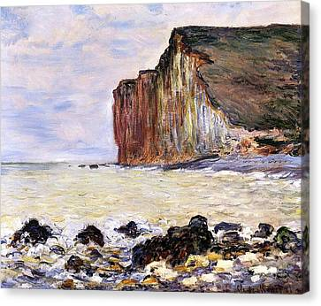 Les Petites Dalles Canvas Print by Claude Monet