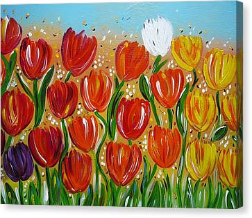 Les Tulipes - The Tulips Canvas Print