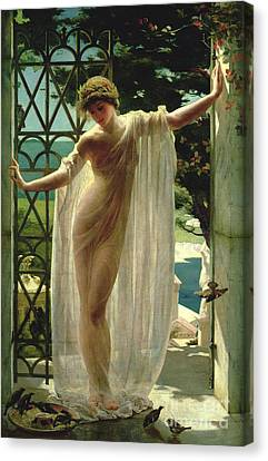 Ancient Canvas Print - Lesbia by John Reinhard Weguelin