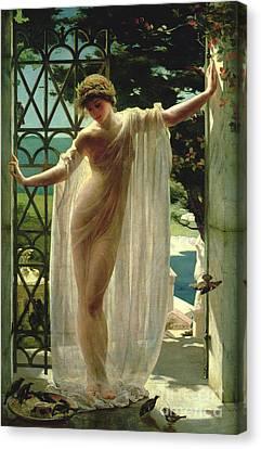 Beautiful Women Canvas Print - Lesbia by John Reinhard Weguelin