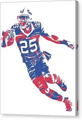 Buffalo Canvas Print - Lesean Mccoy Buffalo Bills Pixel Art 11 by Joe Hamilton
