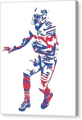 Buffalo Canvas Print - Lesean Mccoy Buffalo Bills Pixel Art 12 by Joe Hamilton