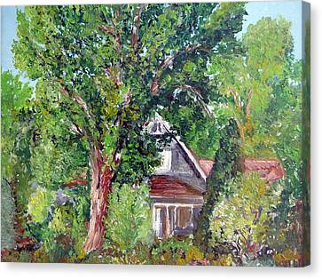 Lesher Homestead Boulder Co Canvas Print by Tom Roderick
