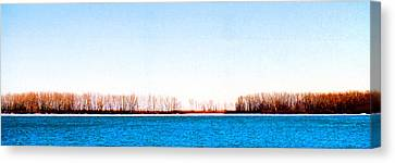 Canvas Print featuring the photograph Leslie Spit From Cherry Beach 33 Dbae by Lyle Crump