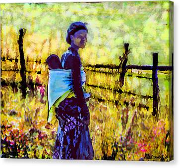 Lesotho Woman Canvas Print by Alexandra Jordankova