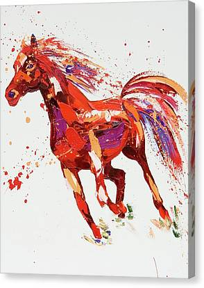Jumping Horse Canvas Print - L'espirit by Penny Warden