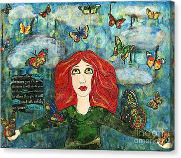 Lessons From A Butterfly Canvas Print