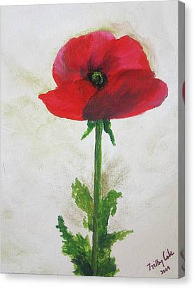 Lest We Forget Canvas Print by Trilby Cole