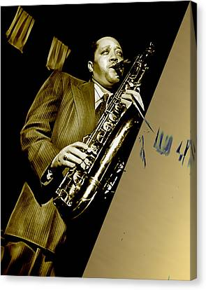 Lester Young Collection Canvas Print by Marvin Blaine