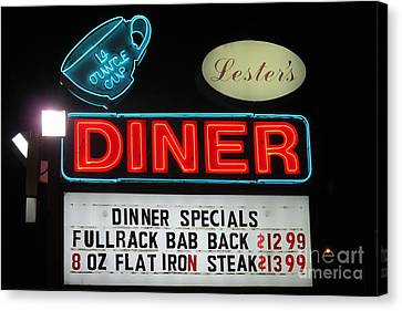 Lesters Diner Canvas Print by Randall Weidner