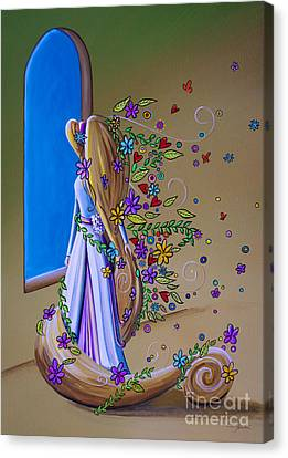 Rapunzel Canvas Print - Let Down Your Hair by Cindy Thornton