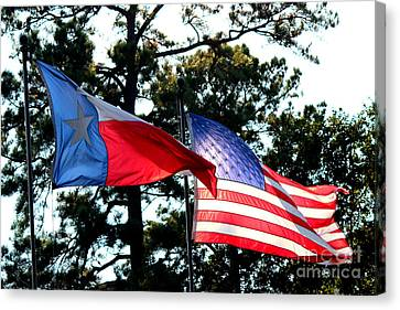 Canvas Print featuring the photograph Let Freedom Ring by Kathy  White