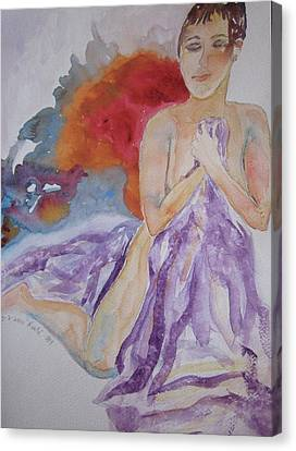 Canvas Print featuring the painting Let It Burn by Beverley Harper Tinsley