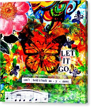 Canvas Print featuring the mixed media Let It Go by Genevieve Esson