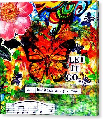 Delicate Canvas Print - Let It Go by Genevieve Esson